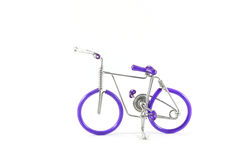 Bicycle on white background made from wire Royalty Free Stock Photos