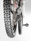Bicycle with winter tyre Stock Images