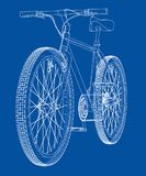 Bicycle. Wire-frame style. Vector. Bicycle. Vector rendering of 3d. Wire-frame style. The layers of visible and invisible lines are separated Royalty Free Stock Photo
