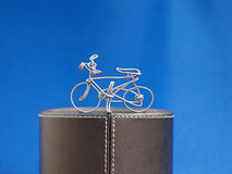 Bicycle wire on podium Royalty Free Stock Photography