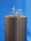 Bicycle wire on podium Royalty Free Stock Photos