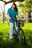 Bicycle woman Royalty Free Stock Photography