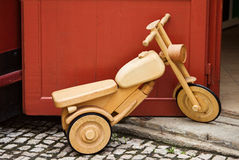 Bicycle wooden toy Royalty Free Stock Image