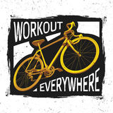 Bicycle Workout Poster Stock Image