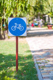 Bicycle zone Royalty Free Stock Images