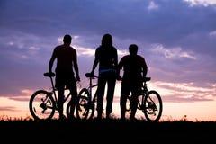 Bicycler stockbild
