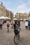 Bicyclers στο Πόζναν στοκ εικόνες