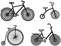 Bicycles – Vector illustrations Stock Photo