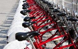 bicycles красный цвет стоковые фотографии rf