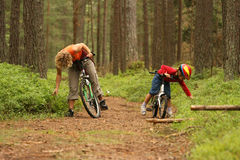 bicycles мать дочи стоковое изображение