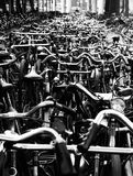 Bicycles. Parked in Amsterdam bicycle station Stock Photos