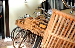 Bicycles. Old style bicycle stock images