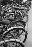 Bicycles. A lot of bicycles on a parkingplace Royalty Free Stock Photo