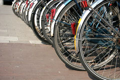 Bicycles. Many Bicycles royalty free stock image