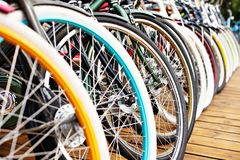 Bicycles that abreast royalty free stock photo