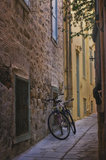 Bicycles in an alley Royalty Free Stock Photo
