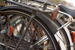Bicycles along the Canals in A Royalty Free Stock Photos