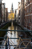 Bicycles along the Canals in A Royalty Free Stock Images