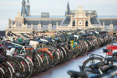 Bicycles in Amsterdam Royalty Free Stock Photo