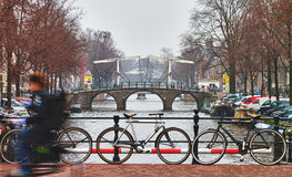 Bicycles in amsterdam Royalty Free Stock Images