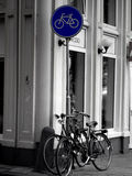 Bicycles in Amsterdam Stock Image