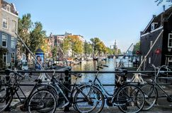 Bicycles in Amsterdam Stock Photo