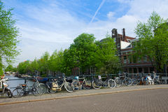 Bicycles  of Amsterdam, Netherlands Royalty Free Stock Photo