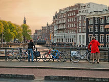 Bicycles in Amsterdam Stock Photography