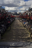 Bicycles in Amsterdam (The Netherlands) Royalty Free Stock Photography
