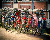Bicycles in Amsterdam Stock Photos