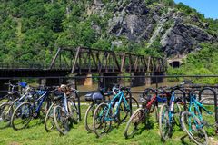 Free Bicycles At Harpers Ferry Stock Images - 118420354