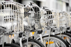 Bicycles available for rental Royalty Free Stock Photo