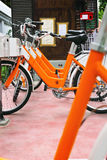 Bicycles available for rental Royalty Free Stock Images