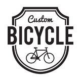 Bicycles Badge/Label. Custom Bike Stock Photography