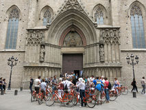 Bicycles in Barcelona Stock Photography
