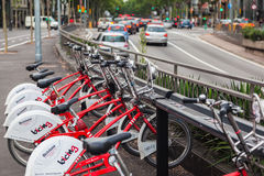 Bicycles in Barcelona Royalty Free Stock Images