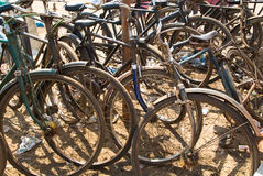 Bicycles at the beach Royalty Free Stock Image