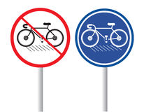 Bicycles. The bicycle icon vector on white background Royalty Free Stock Photo