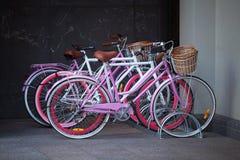 Bicycles in bike rack Royalty Free Stock Image