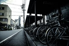 Bicycles, Bikes, Building Royalty Free Stock Photo