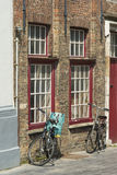 Bicycles in Bruges Royalty Free Stock Image