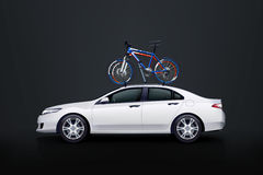 Bicycles on car Royalty Free Stock Image