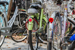 Bicycles. Casual time glitter bicycles black tires Royalty Free Stock Photos