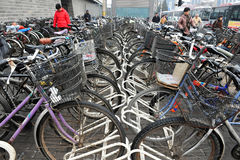 Bicycles In China Royalty Free Stock Photo