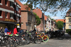 Bicycles in the city of Munster, Germany Stock Photography