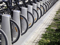 Bicycles for Commuters Stock Images
