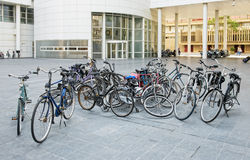 Bicycles composition in Hague, Netherlands Royalty Free Stock Image