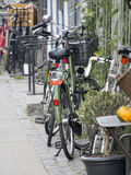 Bicycles in Copenhagen, Denmark Royalty Free Stock Photography