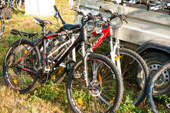 Bicycles at a cycling competition Royalty Free Stock Images