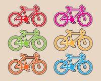 Bicycles design vector Stock Photos